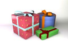 3d被回报的礼品 免版税库存图片