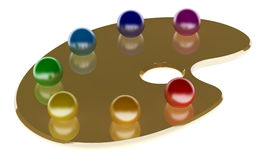 3d调色板 向量例证