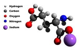 3d谷氨酸设计 向量例证