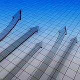 3d财务图形 免版税图库摄影