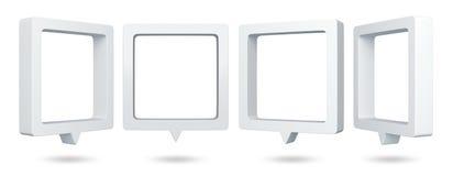 3d起泡演讲正方形 免版税图库摄影