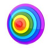 3d辐形彩虹 免版税库存照片