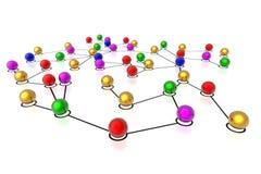 3d连接数网络 免版税库存照片
