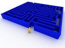 3d迷宫人 免版税库存图片