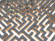 3d迷宫 免版税库存图片