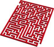 3d迷宫 库存图片