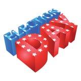 3d选举日 免版税库存照片