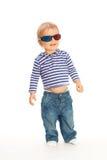 3d逗人喜爱的玻璃孩子 免版税库存照片