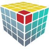 3d配件箱多维数据集难题解决方法白色 皇族释放例证