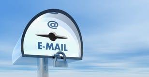 3d配件箱邮件 库存图片