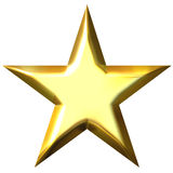3d金黄星形 库存图片