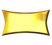 3d金黄的横幅 免版税库存照片