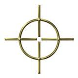 3d金黄目标 向量例证