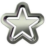 3d银色星形 免版税图库摄影