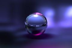 3D镀铬物球 免版税库存图片