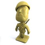 3d陆军人黄色 免版税图库摄影