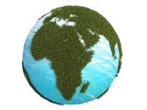 3d非洲cg地球欧洲南北的草绿色 库存图片
