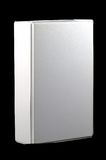 3d面对的黑色空白配件箱 库存照片