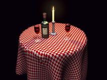 3d餐馆设置 免版税图库摄影