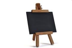 3d黑板画架查出您的文本 免版税库存照片