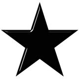 3d黑色星形 库存图片