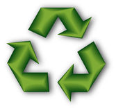 3d återanvänder symbol Stock Illustrationer
