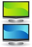 3D écran plat TV Photos libres de droits
