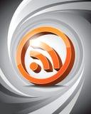 3D ícone RSS Imagem de Stock Royalty Free