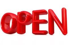3d öppnar röd text Royaltyfri Fotografi