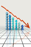 3d übertragen Grundbesitz-Diagramm-Konzept Lizenzfreies Stockfoto