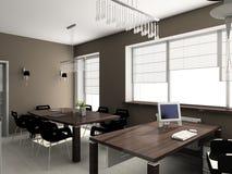 3D übertragen modernen Innenraum des Büros Lizenzfreie Stockfotos