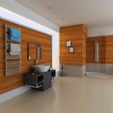 3d übertragen modernes Badezimmer Lizenzfreie Stockbilder