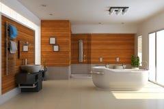 3d übertragen modernes Badezimmer Stockfotos