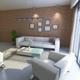 3d übertragen modernes Wohnzimmer Stockbilder