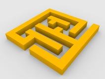 3d übertragen vom Labyrinth Lizenzfreie Stockfotografie