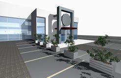 3D übertragen vom modernen Gebäude Stockbild