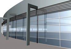 3D übertragen vom modernen Gebäude, Nahaufnahme Stockfotos
