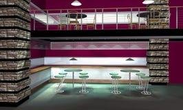 3D übertragen vom modernen Innenraum Stockbild