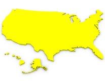 3d übertragen von den Vereinigten Staaten stock abbildung