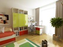 3d übertragen von einem modernen Innenraum Stockfoto