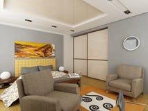 3d übertragen von einer modernen interior.exclusive Auslegung Lizenzfreie Stockfotografie
