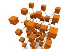 3D übertragen Würfel mit Anschlüssen Stockbilder