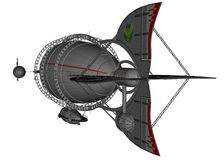 3D übertrug Luftschiff Lizenzfreies Stockbild