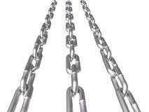 3d łańcuch odizolowywający metalu biel Zdjęcie Stock
