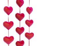 3d łańcuszkowych serc wzorcowa czerwień Zdjęcie Royalty Free