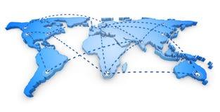 3d światowa mapa