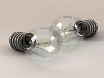 3d żarówka elektryczna Fotografia Royalty Free