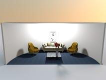 3d żywy rendering zaokrąglająca przestrzeń Zdjęcie Stock