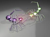 3d воюя робототехнические скорпионов Стоковые Изображения RF