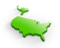 3d карта США Стоковая Фотография